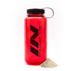 Limitovana edice novy red cerveny shaker lahev na cesty intelligent food inteligentni jidlo tritan bpa free lehka pevna flaska